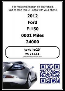 Car Dealership inventory QR Code
