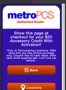 Geofence Triggered Mobile Coupons - Case Study MetroPCS