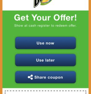 Thumbvista mobile coupon feature example