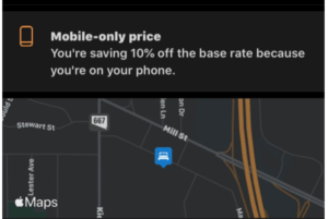 mobile discount for location